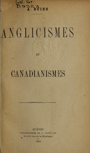 Download Anglicismes et canadianismes.