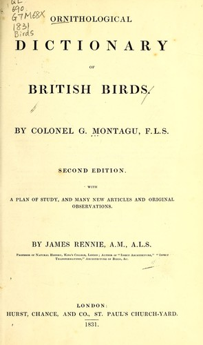 Download Ornithological dictionary of British birds