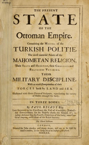 The present state of the Ottoman Empire.