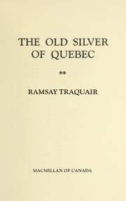 The old silver of Quebec PDF