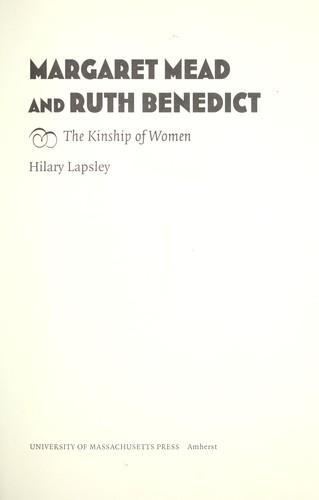 Margaret Mead & Ruth Benedict.