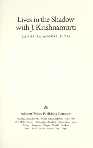 Download Lives in the shadow with J. Krishnamurti