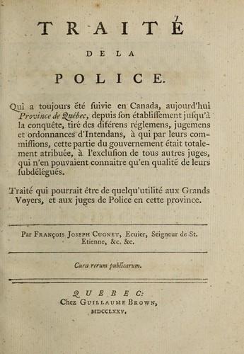 Traité de la police