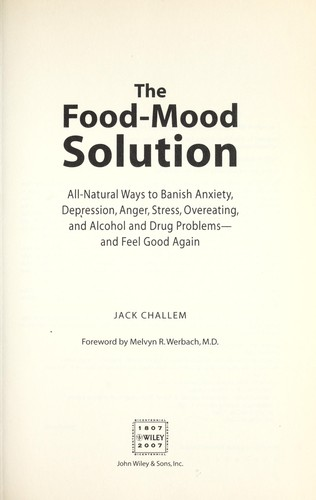 Download The food-mood solution
