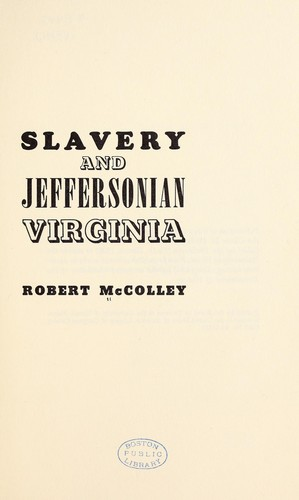 Download Slavery and Jeffersonian Virginia.