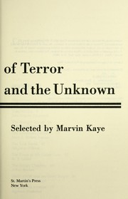 Masterpieces of Terror and the Unknown (Guild America Books) PDF