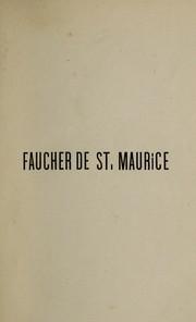 Faucher de St. Maurice