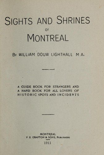 Download Sights and shrines of Montreal