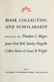 Book collecting and scholarship