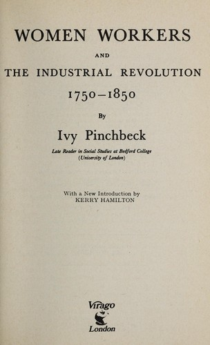 Download Women workers and the Industrial Revolution, 1750-1850