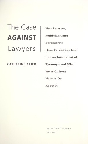 Download The case against lawyers