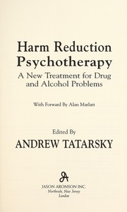 Harm reduction psychotherapy PDF
