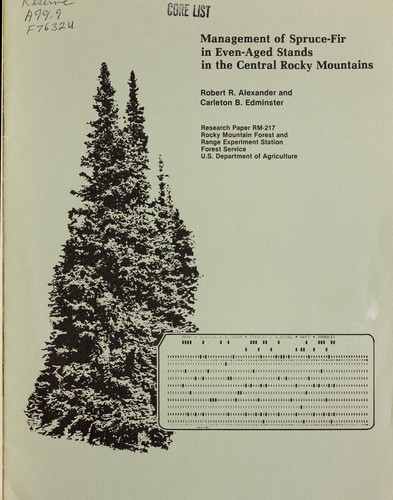 Download Management of spruce-fir in even-aged stands in the central Rocky Mountains