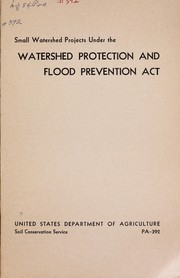 Small watershed projects under the watershed protection and flood prevention act PDF