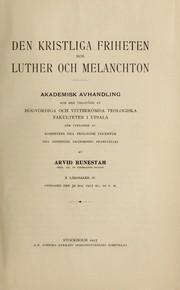 Den kristliga friheten hos Luther och Melanchton