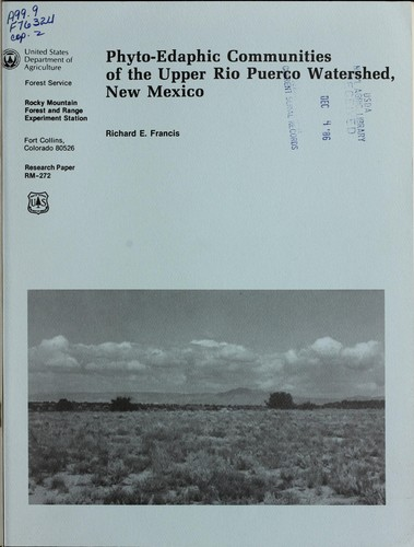 Download Phyto-edaphic communities of the upper Rio Puerco watershed, New Mexico