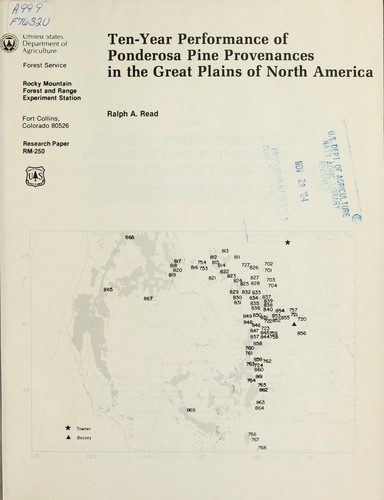 Download Ten-year performance of ponderosa pine provenances in the Great Plains of North America