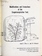 Modifications and evaluations of the evapotranspiration tent PDF