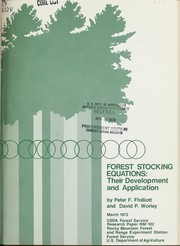 Forest stocking equations PDF