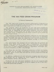 The 1961 feed grain program PDF