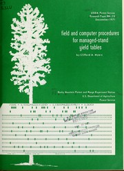 Field and computer procedures for managed-stand yield tables PDF