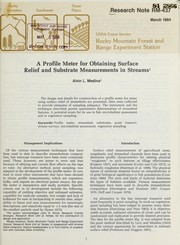 A profile meter for obtaining surface relief and substrate measurements in streams PDF