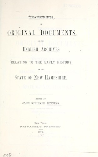 Download Transcripts of original documents in the English archives