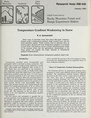 Temperature gradient weakening in snow PDF
