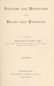 Faculties and difficulties for belief and disbelief PDF