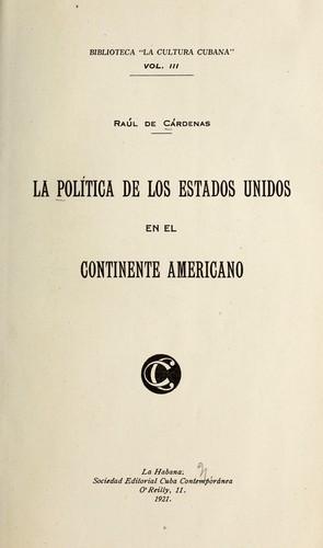 Download La política de los Estados Unidos en el continente americano.