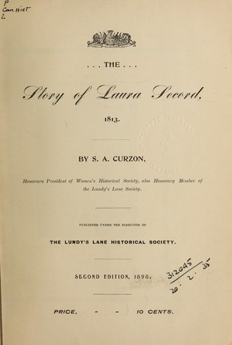 Download The story of Laura Secord, 1813