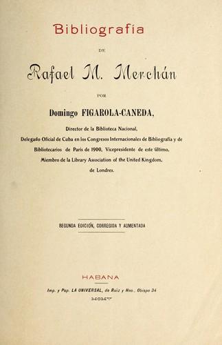 Download Bibliografía de Rafael M. Merchán