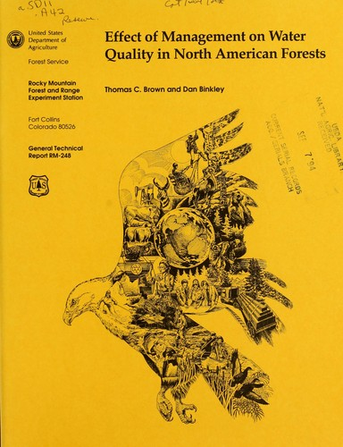 Download Effect of management on water quality in North American forests