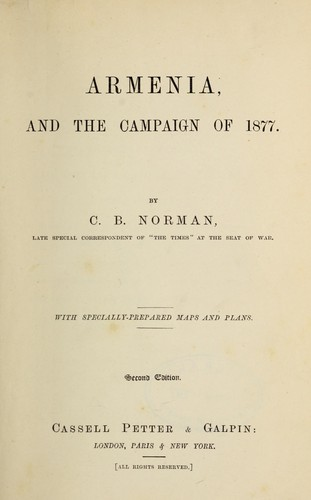 Download Armenia, and the campaign of 1877