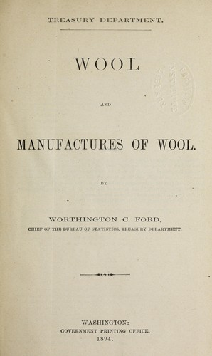 Download Wool and manufactures of wool.
