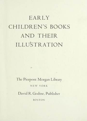 Download Early children's books and their illustration