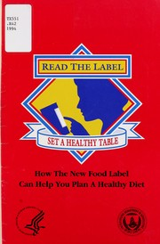 Read the label, set a healthy table PDF