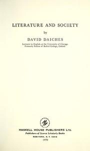 Literature and society PDF