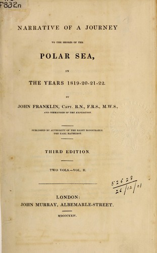 Narrative of a journey to the shores of the Polar Sea