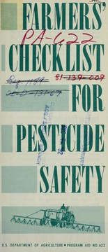Farmers' checklist for pesticide safety PDF