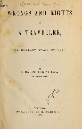 Download Wrongs and rights of a traveller