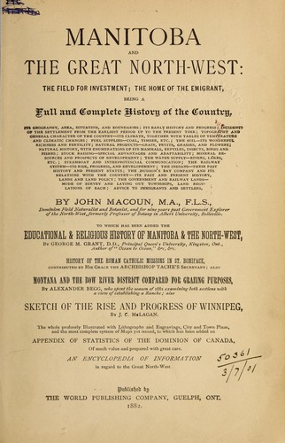 Download Manitoba and the great North-west