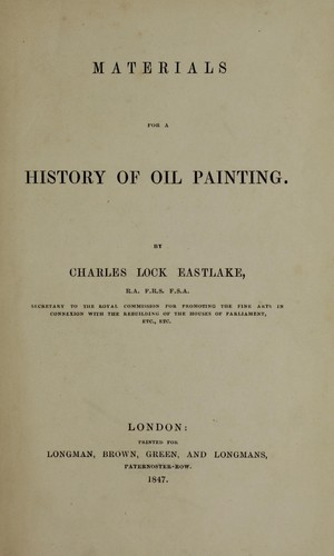 Download Materials for a history of oil painting.