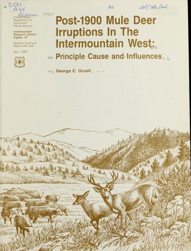 Download Post-1900 mule deer irruptions in the intermountain West