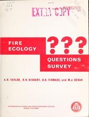 Fire ecology questions survey
