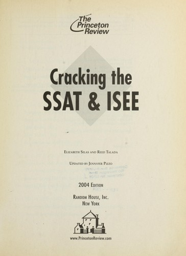 Download Cracking the SSAT & ISEE