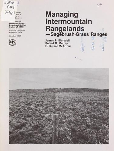 Download Managing Intermountain rangelands