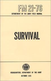 Cover of: US Army Survival Manual by Department of Defense