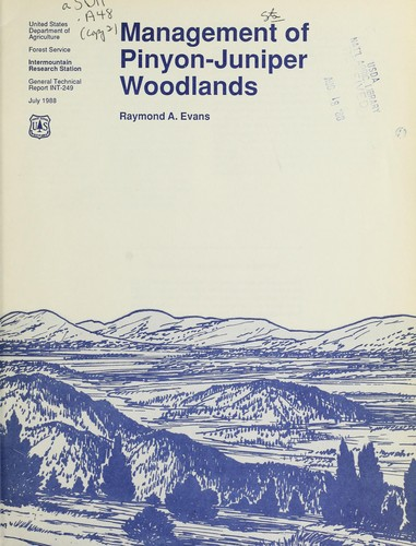 Download Management of pinyon-juniper woodlands