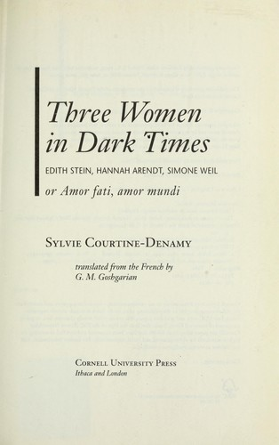 Three women in dark times